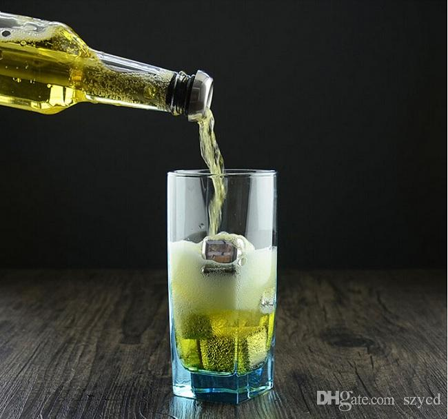 NOUVEAU / set Bière Refroidisseur Bière En Acier Inoxydable Alcool Rafraîchissant Glace Boissons Vin Froid