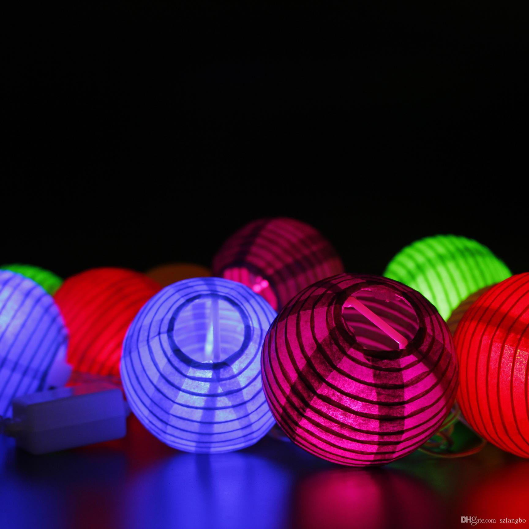 2w ac110v input us plug colorful paper lantern with 75mm diameter