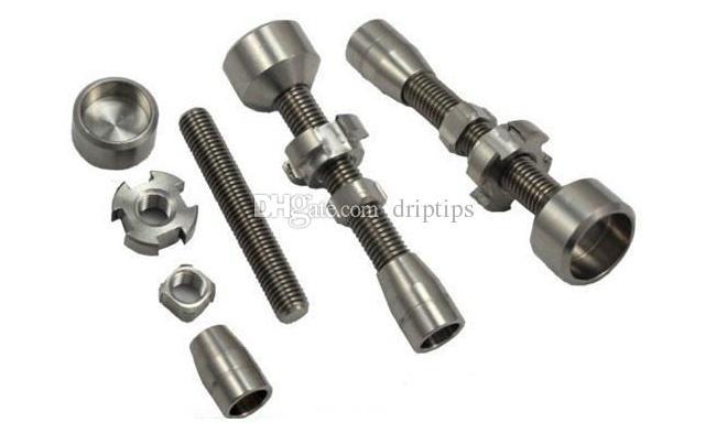 14 мм 18 мм двойной сочлененные регулируемые GR2 титана ногтей 2 в 1 титана ногтей Титана Domeless ногтей воск масло