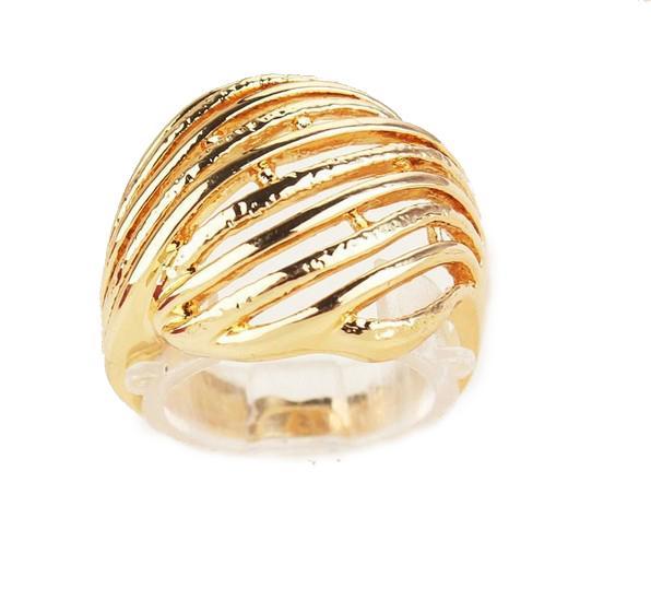 Nuovo regalo di compleanno / regalo del biglietto di S. Valentino di trasporto libero le donne / uomini Oro giallo ambientale 18k riempito formato 8,5 gioielli dell'anello