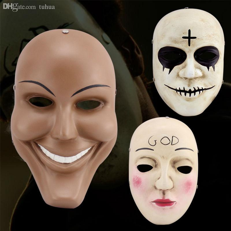 2018 wholesale cool the purge mask halloween high quality mask collector theme terrorist movie halloween party happy fun without limit jj163 from huoxiang