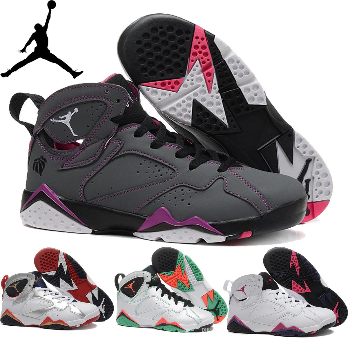 e9f7028a9adb ... good nike air jordan 7 retro vii gs hot lava sweater olympic hare french  blue womens