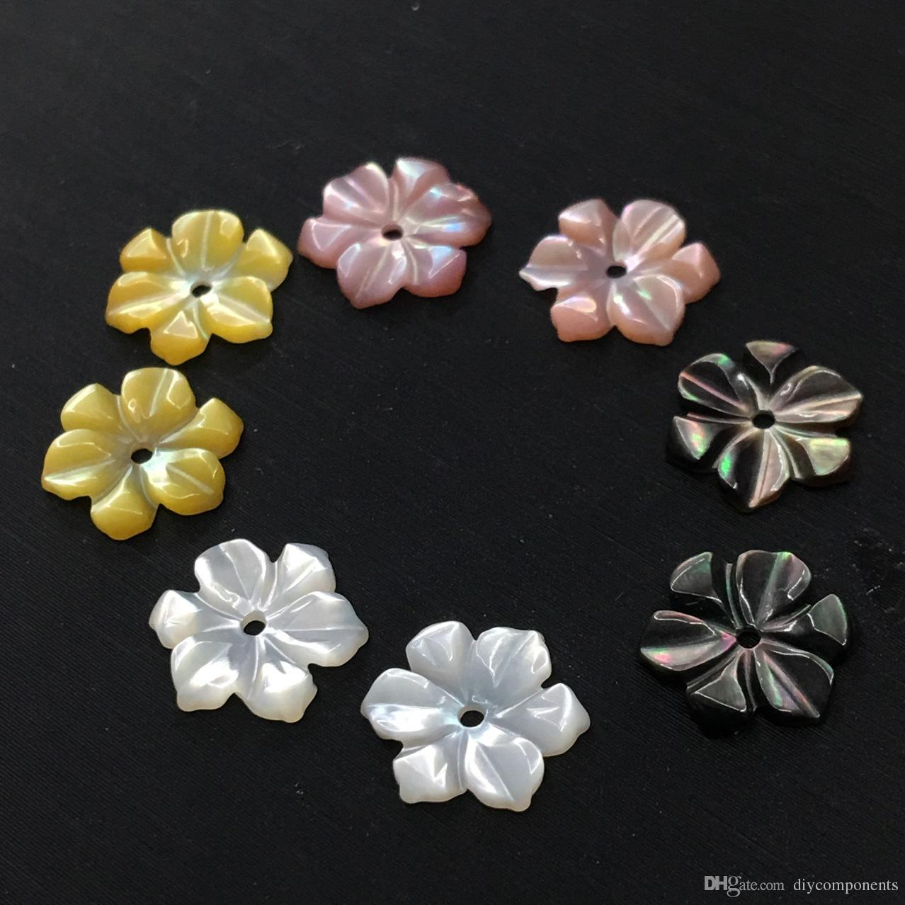 2018 wholesale 3d carved seashell beads 6 petals shell flower 10mm 2018 wholesale 3d carved seashell beads 6 petals shell flower 10mm white pink yellow black available for diy jewelry material from diycomponents mightylinksfo