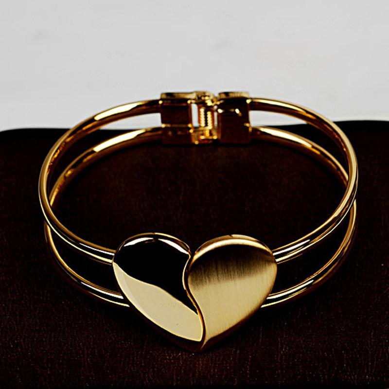 Moda Feminina atacado Elegante geado em forma de coração pulseira jóias Coreano 'Heart dependent
