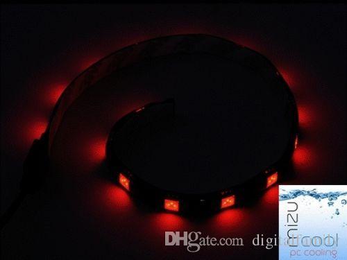 5050 SMD 30 см Красный Синий Белый Зеленый Светодиодные Полосы Света для ПК Компьютерный Корпус Гильза Кабель Molex Разъем 12 В