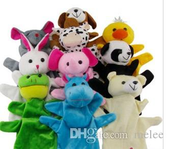 큰 동물 손 장갑 인형 핸드 인형 플러시 장난감 아기 어린이 동물원 농장 동물 손 장갑 꼭두각시 손가락 자루 플러시 장난감