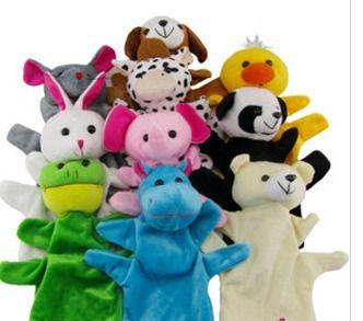 Große Tierhand Handpuppe Handpuppen Plüsch Spielzeug Baby Kind Zoo Farm Tier Hand Handpuppe Puppe Finger Sack