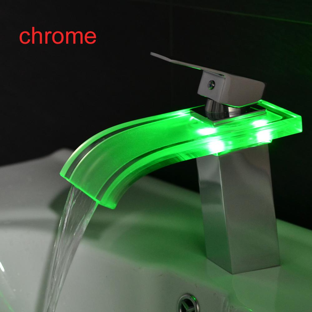 BAKALA NO Battery Classic for the Bathroom Tap Chrome Led Waterfall ...