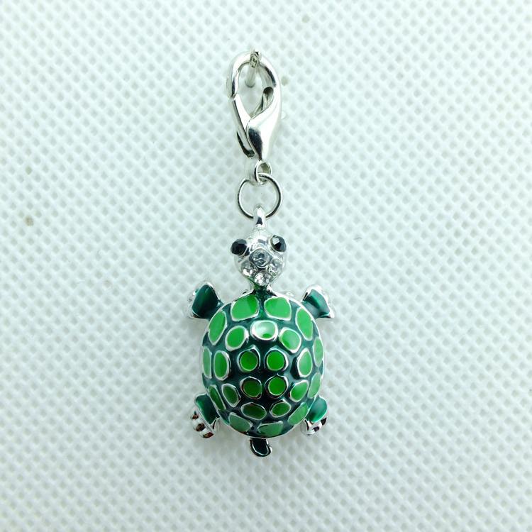 Charms galleggianti di modo di alta qualità 6 lega di colore tartaruga Catenaccio pendenti fai-da-te Accessori gioielli Ordine di miscelazione
