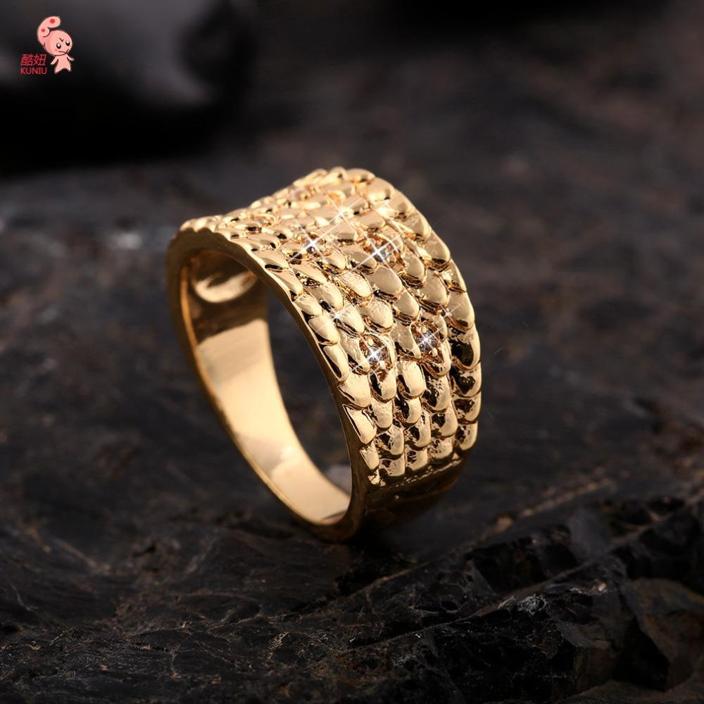 Online Cheap New Design Brand Luxury Female Ring 18k Plated Gold ...