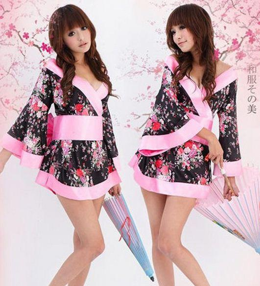 151206 в продаже 2014 леди Япония пижамы сексуальные сорочки кимоно японское платье косплей костюм Intimates сексуальное женское белье ightress