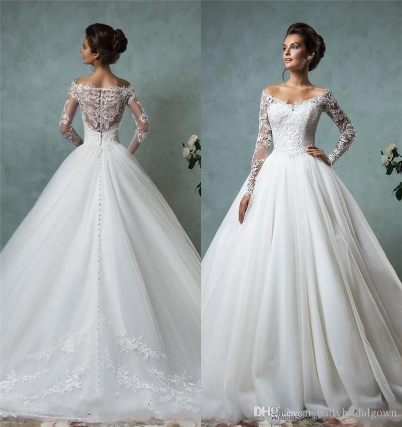 Discount Amelia Sposa 2016 Cheap Lace Wedding Dresses Long Sleeve ...
