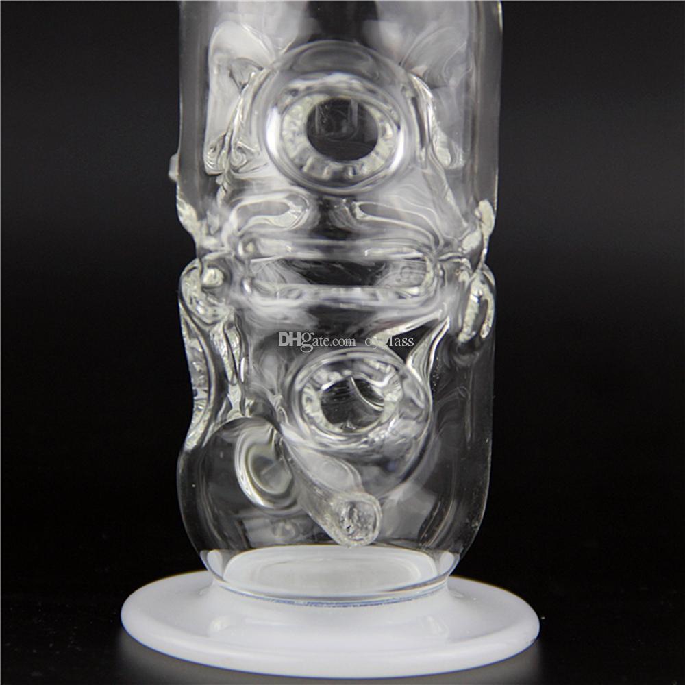 Nuevo Fab Egg Baby Bottle Oil Rigs pipas de vidrio de tubo de agua con difusor de los agujeros con 14.5mm juntas robustas de vidrio de calidad robusta