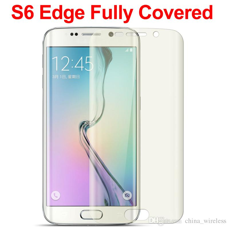 3D Curved surface screen protector Front +back Samsung Galaxy S6 edge S6 edge plus note edge Front Back Golden color TPU Screen Protector