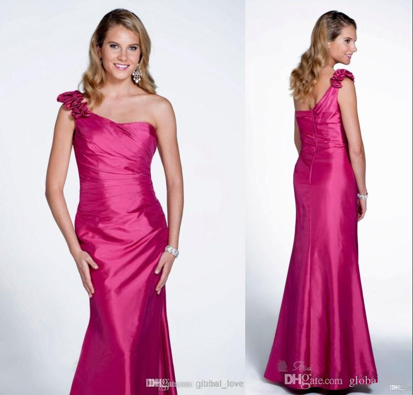 Compre 2017 Encantadora Largo Vestidos De Dama De Honor Barato Un ...