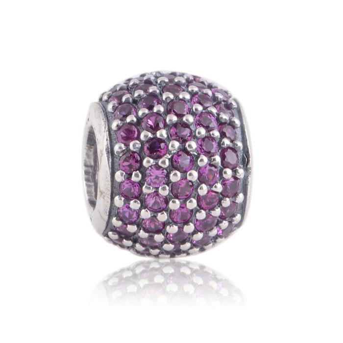 % 100 925 Gümüş Yakut açacağı Kristal Küre Boncuk Avrupa Takı Pandora Chamilia Charm Bilezikler uyar