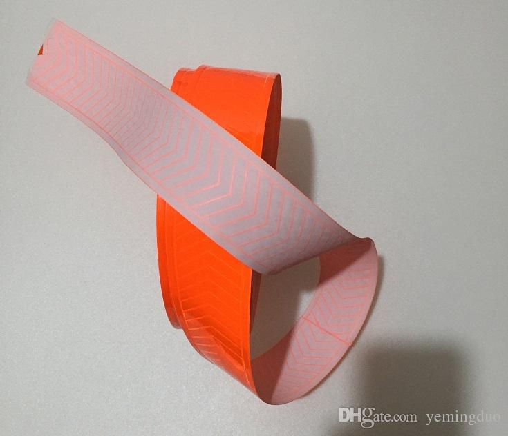 5cm * 50m Nastro di avvertimento riflettente in PVC ad alta visibilità cucire
