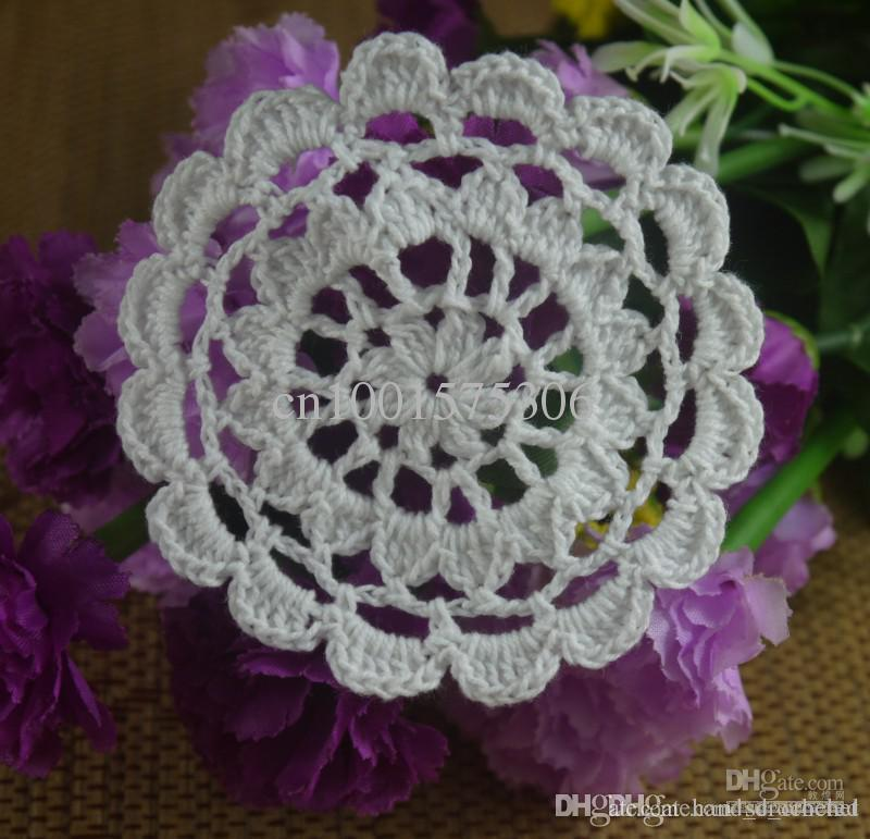 Wholesale Retro Crochet Pattern Doily Hand Made Crochet Cup Mat