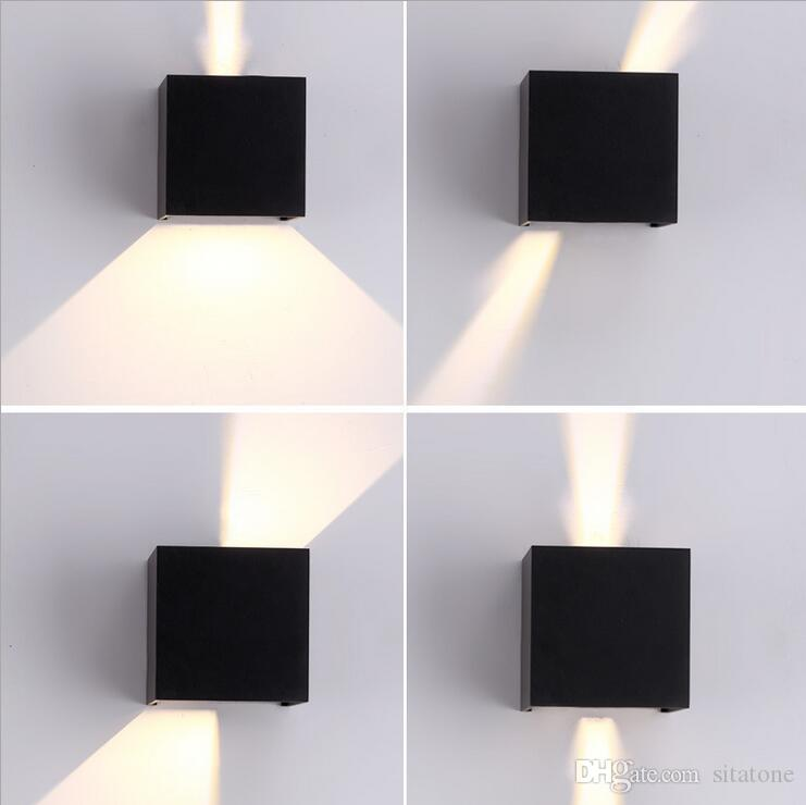 IP65 Waterproof Outdoor Led Wall Light Beam Angle Adjustable Black White 7w Ac85 265v