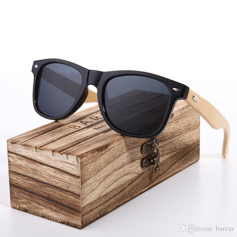 1dfda67d68 2018 New BARCUR Bamboo Sunglasses Men Wooden Glasses Women Brand Designer  Original Wood Sun Glasses Women Men Oculos De Sol Mens Sunglasses Police ...