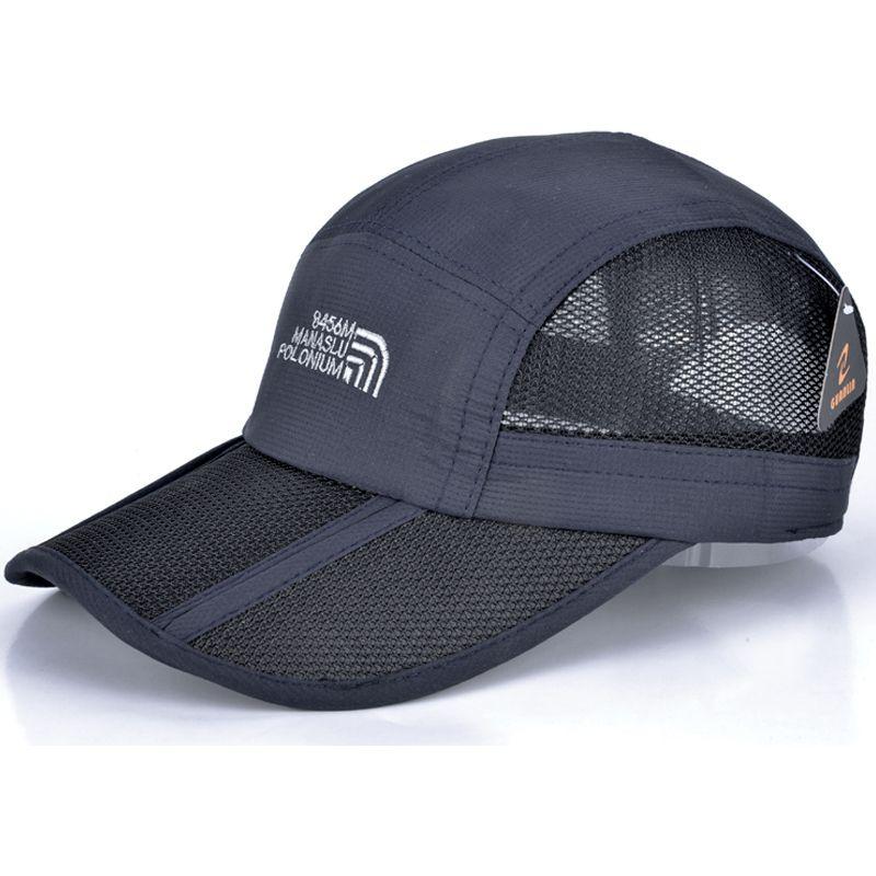 00273ea08b Wholesale-Summer Folding Cap Breathable Mesh Baseball Cap Women And ...