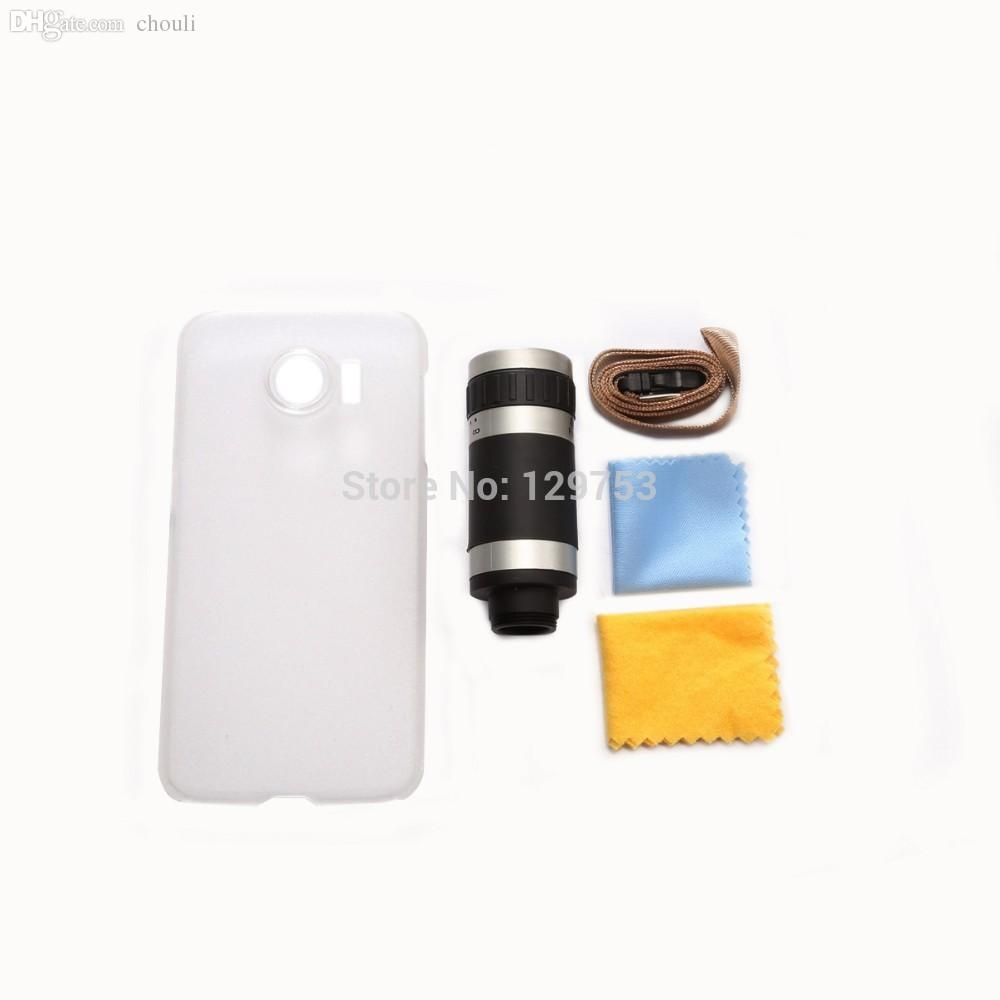 Wholesale-8x Zoom Optical Lens Phone Telescope Camera Lens with Case for Samsung Galaxy S6 G920, Free Shipping