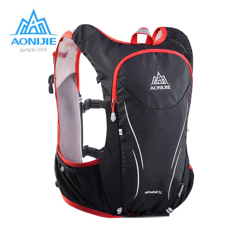b070b2e200 2019 Wholesale AONIJIE 5L Women Men Marathon Hydration Vest Pack For 1.5L  Water Bag Cycling Hiking Bag Outdoor Sport Running Backpack From Alexandr,  ...