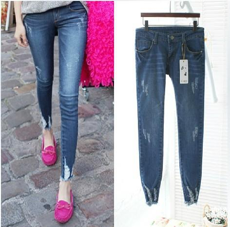 2017 Denim Jeans Pants Women Hole Ripped Designer Jeans Ladies ...