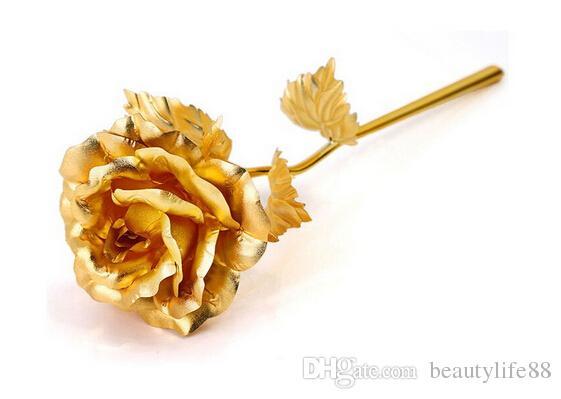 3 ألوان جميلة 24 كيلو الذهب روز احباط الزهور مجوهرات للنساء عشاق هدايا عيد الحب يدويا مع صندوق ل هدية عيد الأم