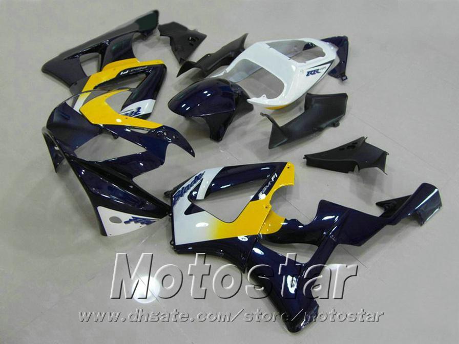 High quality fairing kit for HONDA CBR900RR CBR929 2000 2001 bodykits CBR 929 RR CBR929RR black yellow white fairings set HB17