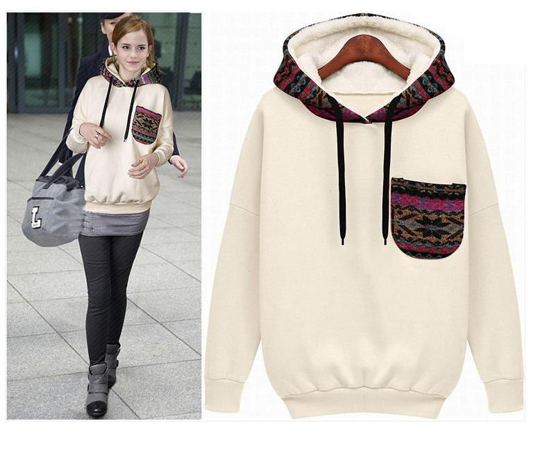 2018 New 2015 Plus Size Women Hooded Sweater Loose Streetwear ...