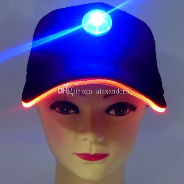 Moda Party Kapelusze z LED Lights Czapki Drewno Baseball Podróżowanie Kapelusz Słońce Galistyczne Bogate Kolory Regulacja Wielkość Czapki