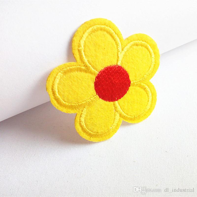 Stickerei Flecken Sunflower förmigen Eisen Patch Tuch zurück gum appliques skirt Jeansjacke racksack Vernähen dekoratives Zubehör DL_CPIF007