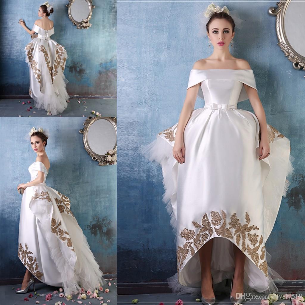 Niedlich Hoch Niedriger Saum Brautkleid Galerie - Hochzeit Kleid ...