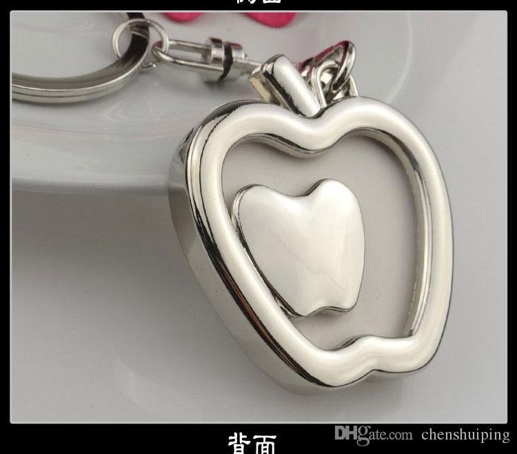gioielli di moda regalo di Natale! Portachiavi a forma di cuore Portachiavi a forma di cornice foto Portachiavi con portachiavi a forma di cuore