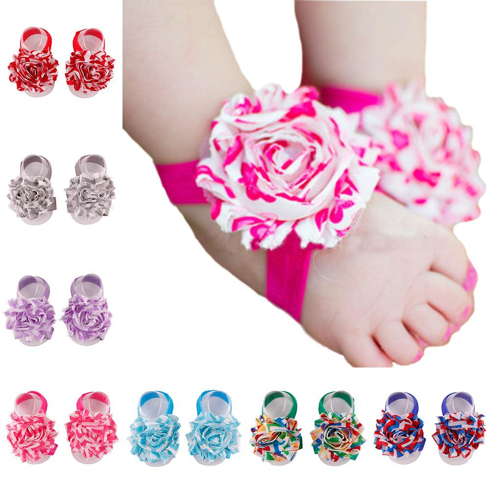 Baby sandals baby girl barefoot sandals foot flowers foot ties girls baby sandals baby girl barefoot sandals foot flowers foot ties girls toddler shoes children photography props hot sale shabby foot flower baby girl barefoot izmirmasajfo Images