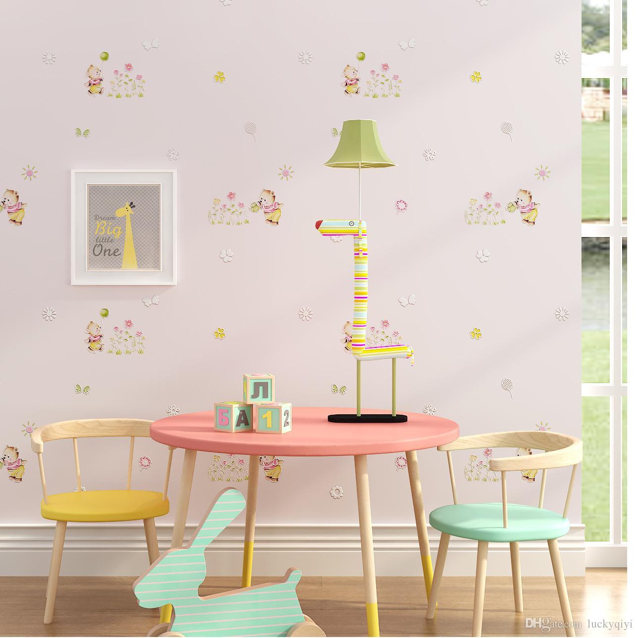 Großhandel Neue Kinderzimmer Wand Papierwanddekor Junge Mädchen ...