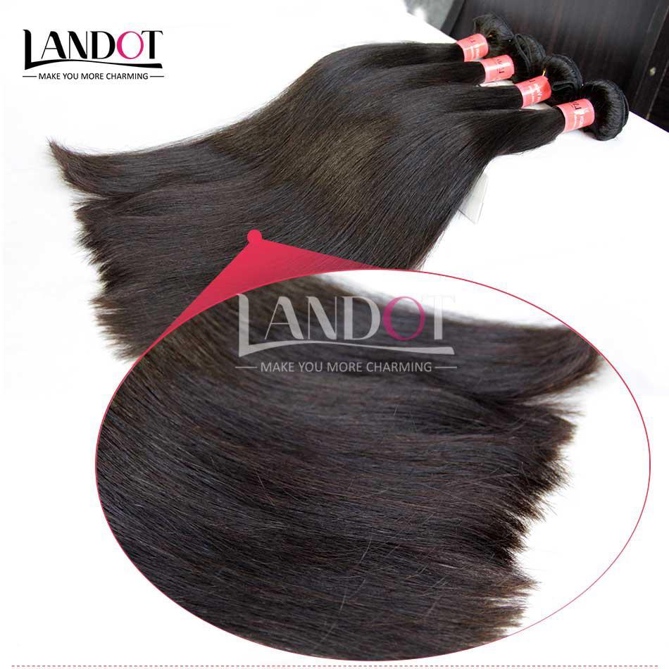 4 Bundles Brésiliens Vierge Cheveux Raides 8A Grade Non Transformés Péruvienne Malaisienne Indien Cambodgien Mongol Cheveux Humains Weaves Double Trames