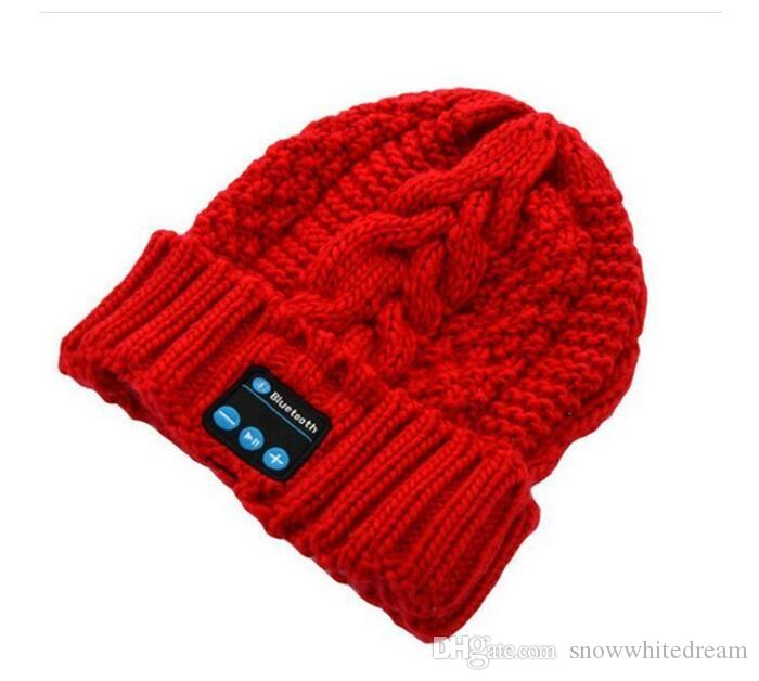 2015 NEW Winter Intelligent Music Knit Wool Cap Hat with a Temperature Bluetooth Headset Cap Music Bluetooth Hat