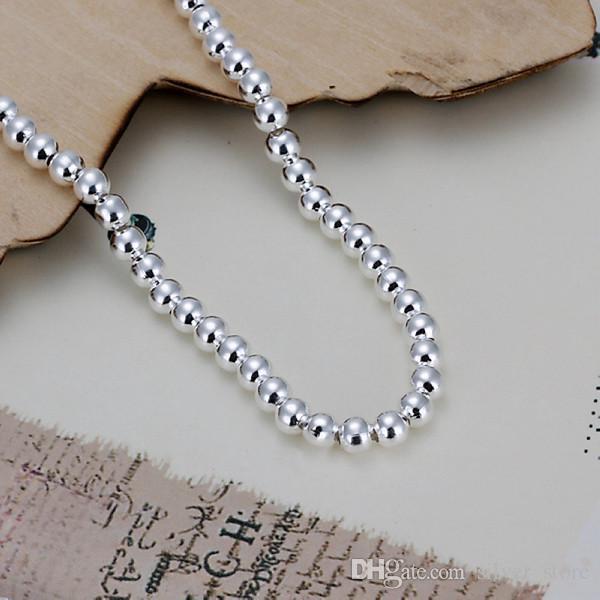 حار بيع أفضل هدية 925 الفضة 4 متر الخرز أساور - جوفاء dfmch198، العلامة التجارية الجديدة 925 فضة مطلي سلسلة ربط الأساور عالية الجودة