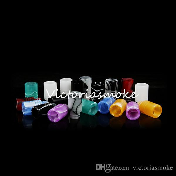 Colorful Acrylic Drip Tips Wide Bore Drip Tip 510 EGO Atomizer Mouthpieces for CE4 CE5 CE6 Protank EVOD EGO T electronic cigarette Atomizer
