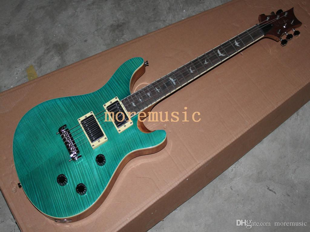 Wholesale Best Musical instruments New Arrival Green Electric Guitar Very  Beauty HOT Free Shipping