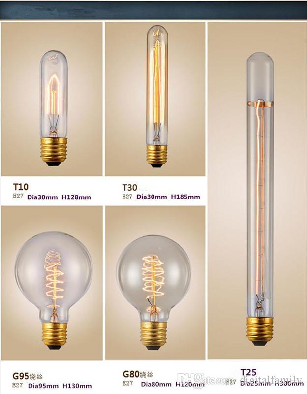 Edison Chandelier Bulb Edison Antique Bulb Aka Carbon Filament Lamp Silk Bulb Antique Lamp Light Incandescent Bulbs