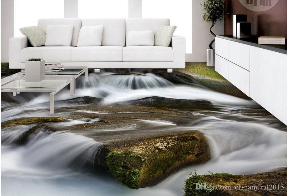 Pavimento in PVC bagno Pavimento in cubico bagno 3d Pavimento in 3d