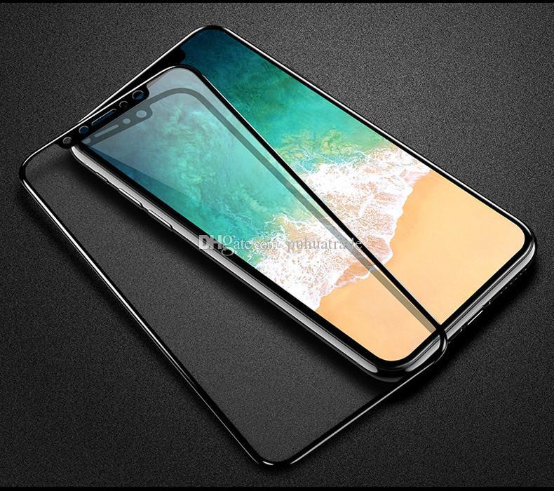 Venta al por mayor para iphone6 película templada, pantalla completa, teléfono con cobertura completa, película HD, fibra de carbono, lado suave, teléfono móvil, protector de pantalla