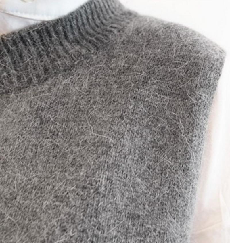 Neuheiten 2017 Frühlingsmode Weste Frauen Hohe Qualität Wolle Pullover Westen Poullovers Sleeveless O-ansatz Weste für Weibliche