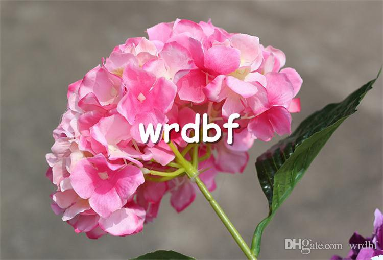 "Silk Single Stem Hydrangea 76cm/29.92"" Length Artificial Flowers European Hydrangea Large Flower Head for Wedding Centerpiece"