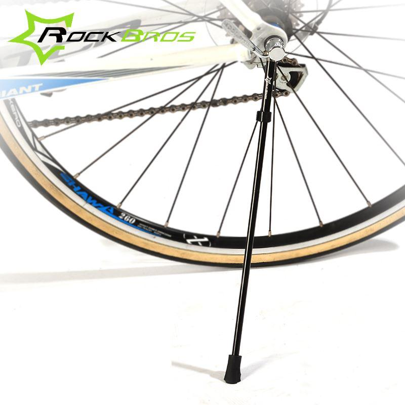 7ca80fcfba ROCKBROS Bicycle Kickstand Quick Release Stainless Steel  Aluminum Alloy  Bike Kick Stand Portable Cycling Side Holder 2 Colors