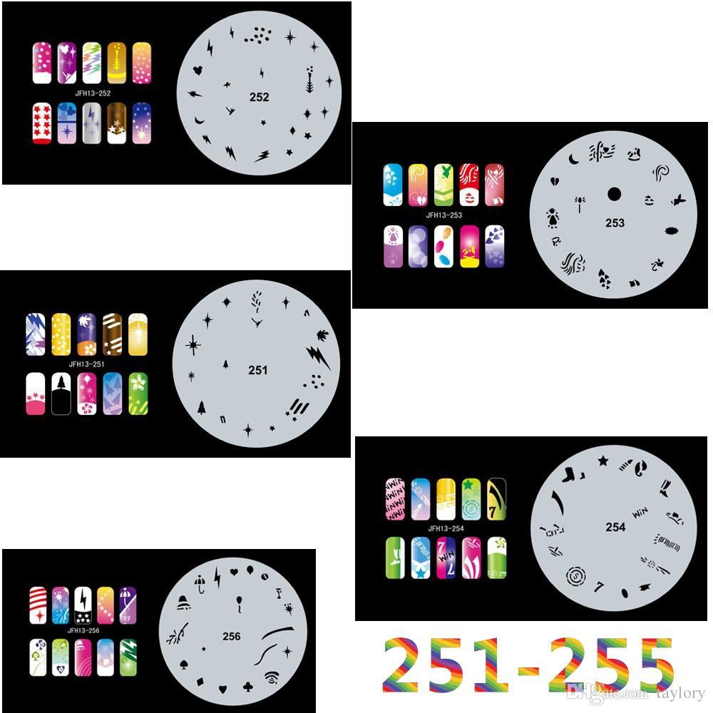 2017 New Fashion Airbrush Nail Stencils Set 251 260 Tools Diy ...