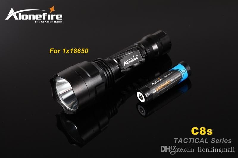 C8 Tactical Gun Flashlight Torch 2200LM CREE XM-L2 LED 5 Modes LED Flash Light Lanterna+gun scope bases Mount+remote switch